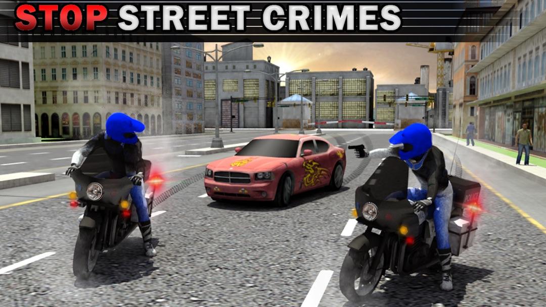 Police Bike Crime Patrol Chase 3D Gun Shooter Game - Online Game