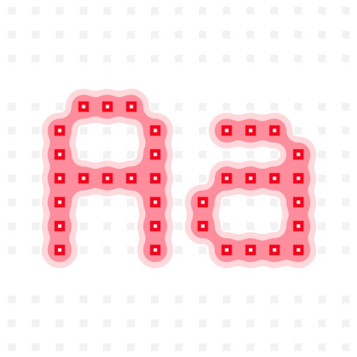 Next Stop: an LED-inspired font as a sticker pack