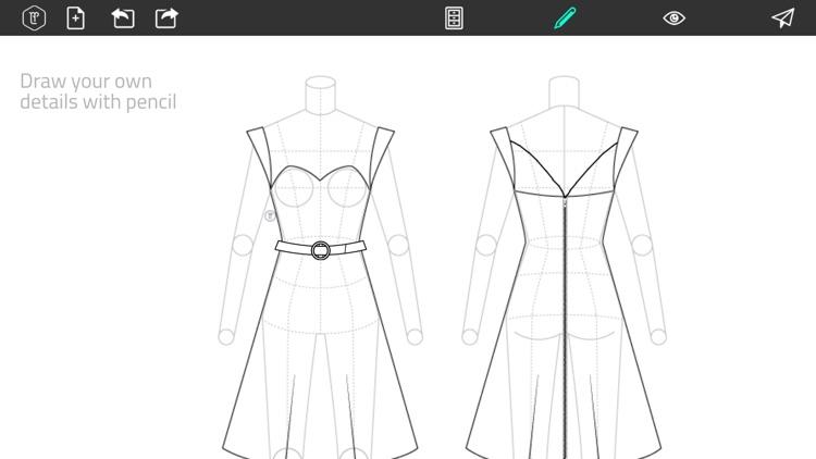Fashion Design FlatSketch screenshot-4