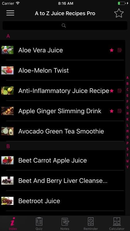 A to Z Juice Recipes Pro screenshot-4
