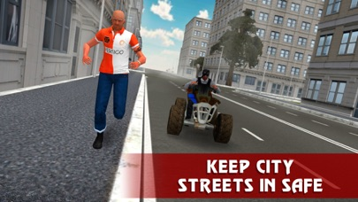 Police ATV Simulator: City Quad Bike Racing Full screenshot three