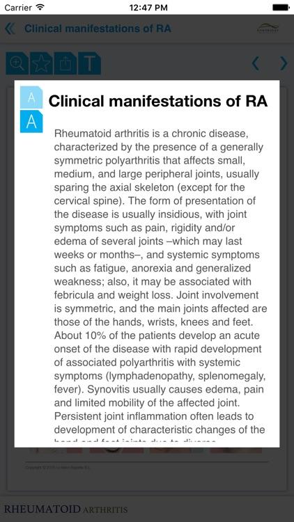 Rheumatoid arthritis Miniatlas screenshot-4