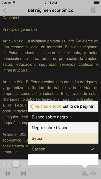 Screenshot for Constitución del Perú in Kazakhstan App Store