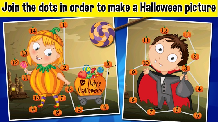 Halloween Connect the Dots - Halloween Games For Toddlers & Kids screenshot-4