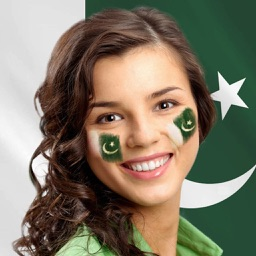 Face Flag for Pakistan : 14 August flags