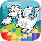 Динозавр Дракон раскраска HD icon