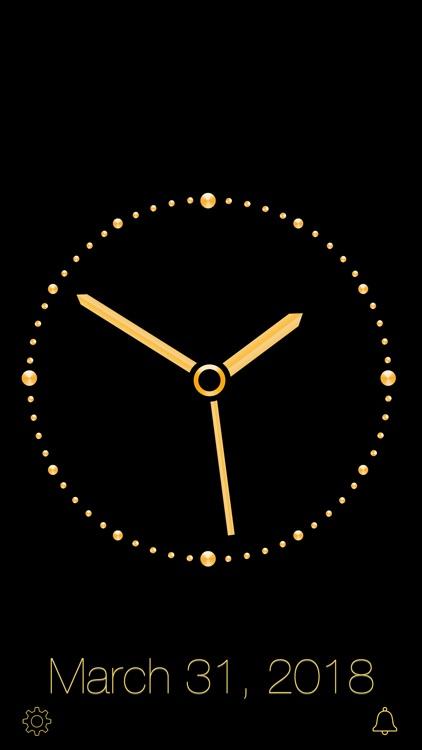 Gold Luxury Clock screenshot-3
