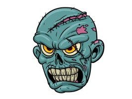 Zombie Stickers offers tons of zombie stickers from heads to bodies to body parts