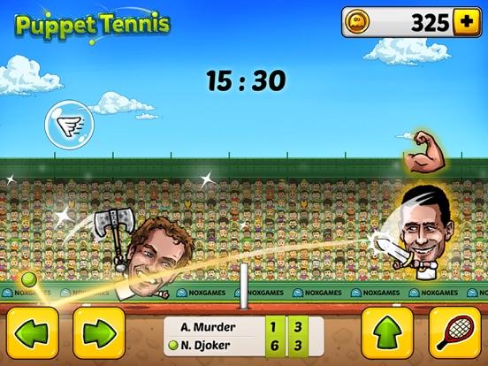 Screenshot  1 for Puppet Tennis  Topspin Tournament of big head Marionette  legends ... 6fb07fffea320