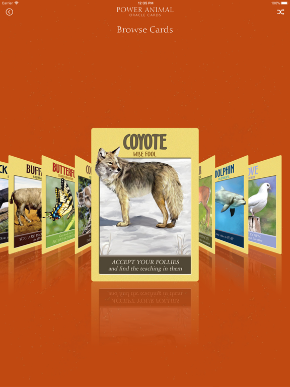 Power Animal Oracle Cards screenshot 9