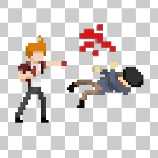 Street Fight [pixelated]