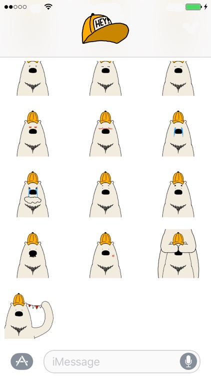 Polar Bear faces sticker screenshot-3