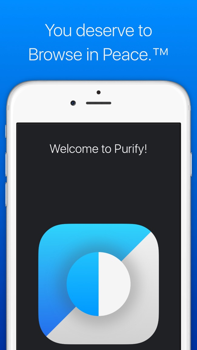 Purify: Ad Blocking Perfected. Screenshot