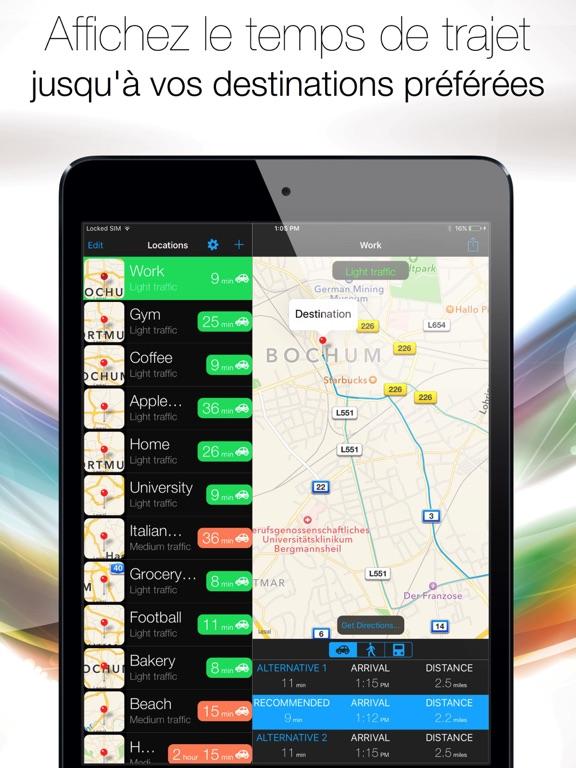 Arrive On Time - GPS, assistant d'aide à  la conduite - heure d'arrivée prévue, trafic, temps de trajet et indications