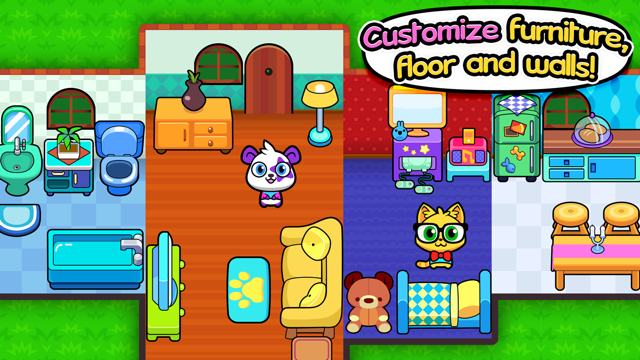 Forest Folks - Pet Home Design and House Decoration Simulator Screenshot