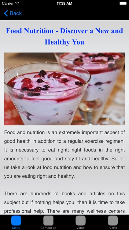Nutrition Fact & Nutrition Chart