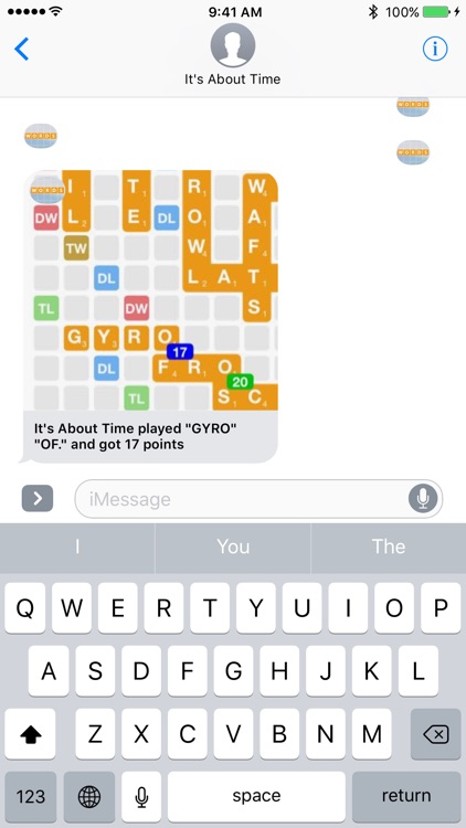 Words for iMessage Game