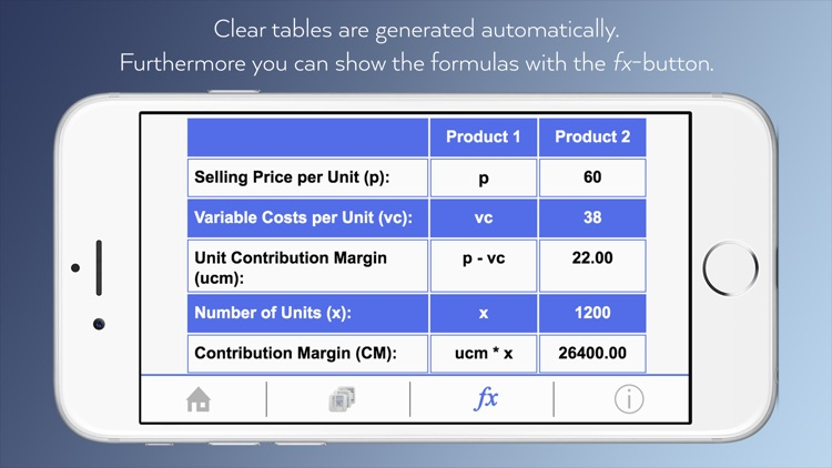 Cost Accounting To Go - Calculator app for students with dictionary and formulas. screenshot-3