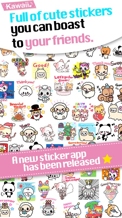 Kawaii Stickers for WhatsApp and WeChat - Adding cute free Stickers!