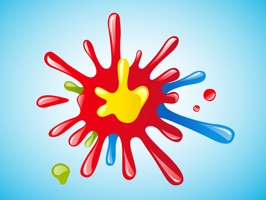 Colour Splash Stickers - Color Paint Splatter Set!