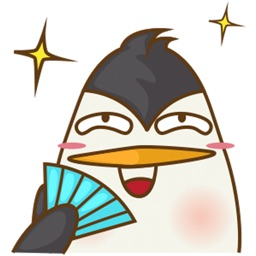 Lulu, the funny penguin for iMessage Sticker