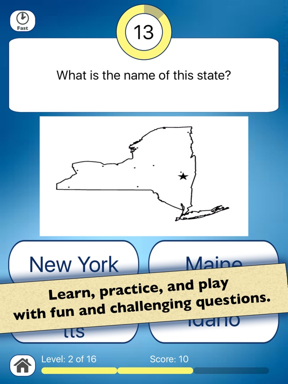 cc12c2dd206b8d Screenshot  1 for US State Shapes Geography Quiz ...