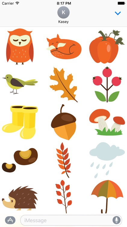 Fall Stickers Pack