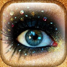 Trendy Eye Jewel & Strass Makeup - Picture Frame.s