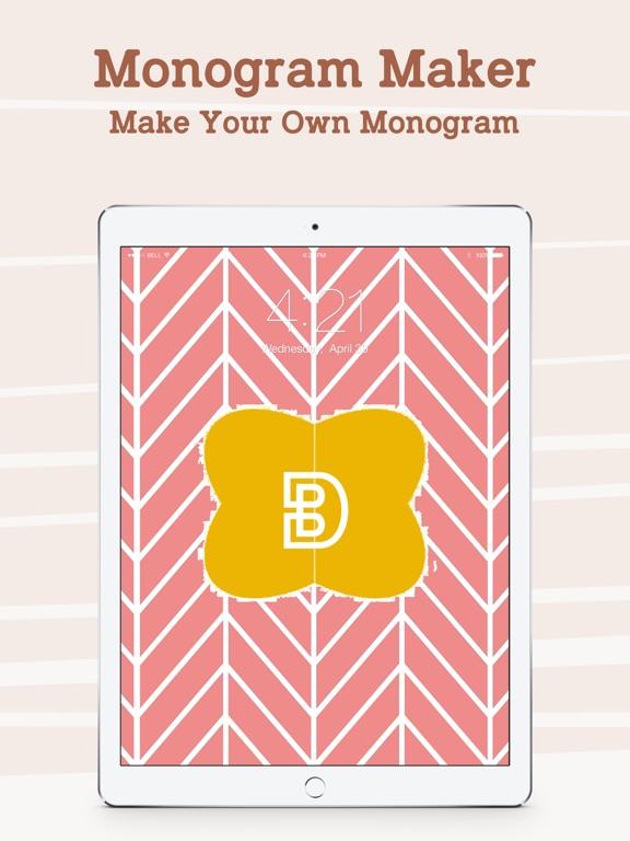 Monogram Lock Screen Wallpaper Maker Make Your