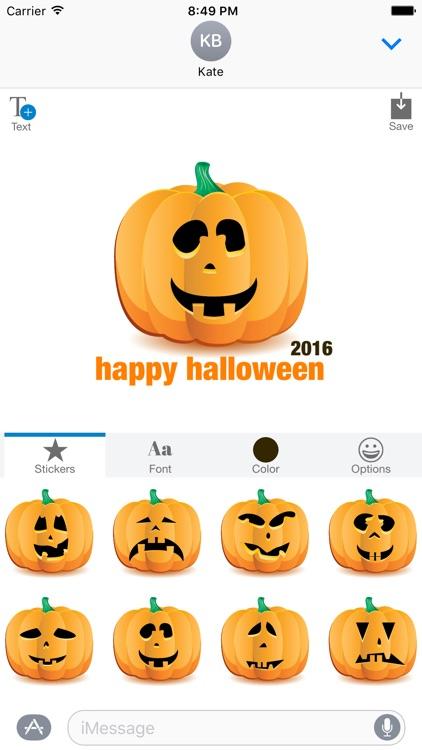 Halloween Pumpkin Jack O Lantern - Sticker Maker