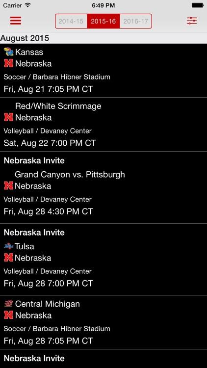 Official Nebraska Huskers screenshot-3