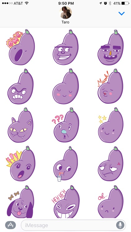 Aubergine Boys: Eggplant Stickers by Blake Jones