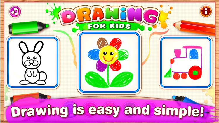 DRAWING FOR KIDS Learning Apps screenshot-0