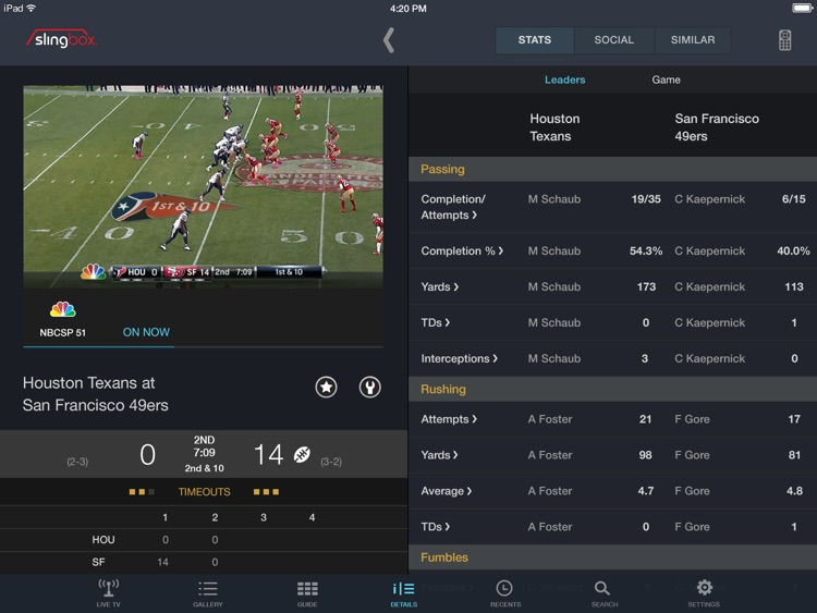 SlingPlayer Free for iPad