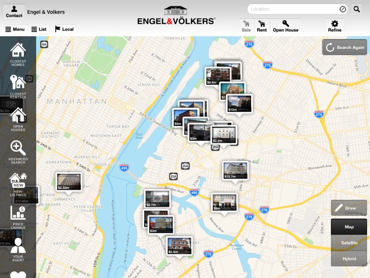 EV Real Estate Search for iPad