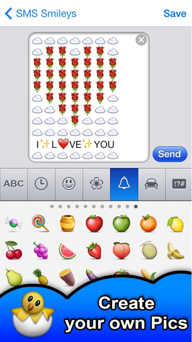 Screenshot for SMS Smileys Emoji Sticker PRO in United States App Store