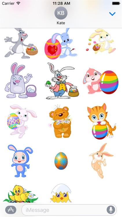 Happy Easter Stickers screenshot-3