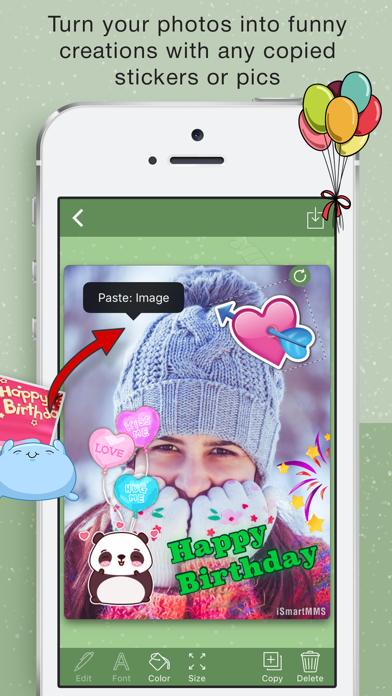 Happy BirthDay Cards Maker screenshot one