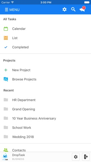 droptask visual to do list on the app store