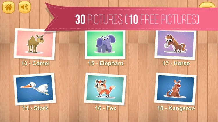 Kids Jigsaw Puzzle World : Animals - Game for Kids for learning