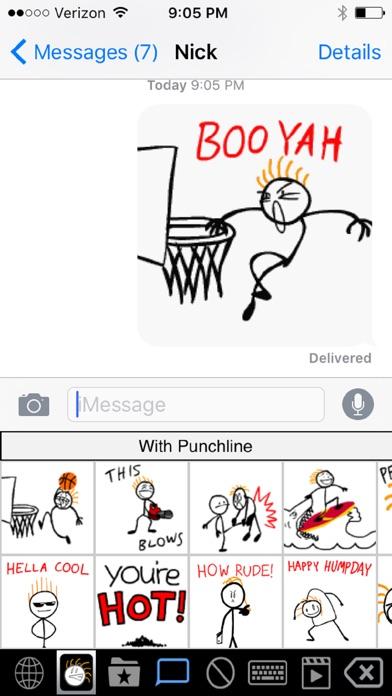 Stick Texting Emoji Killer app image