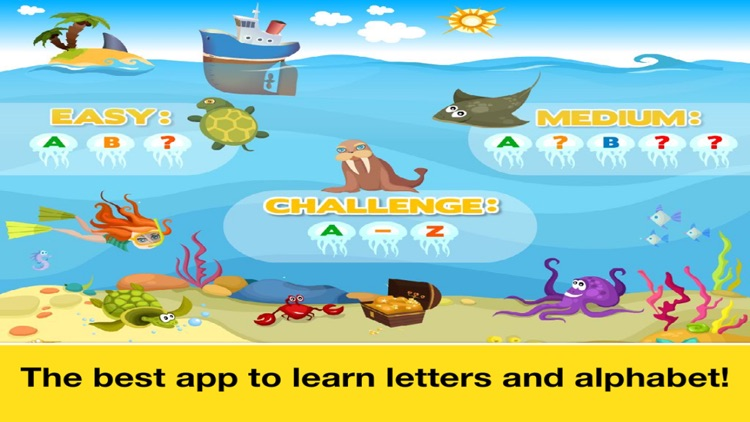 Letter Quiz, Alphabet & ABC Tracing app for kids screenshot-4