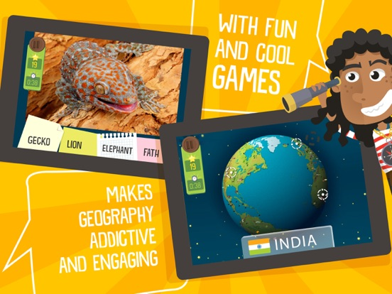 Atlas 3D for Kids – Games to Learn World Geographyのおすすめ画像2