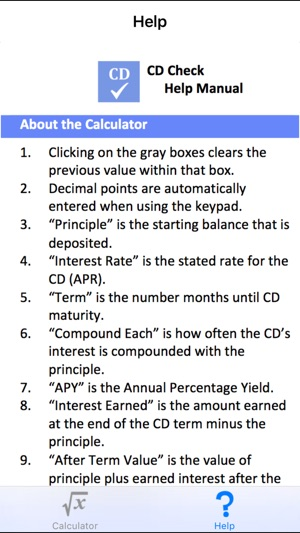 CD Check - Certificate of Deposit Mobile Calculator on the App Store
