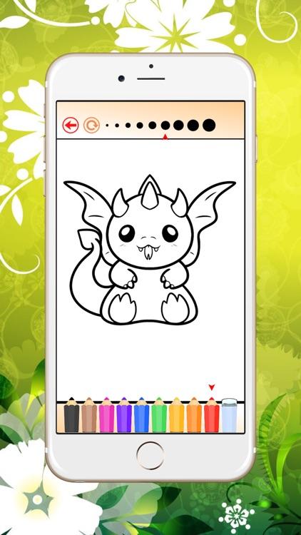 Coloring Book Dragon HD screenshot-3