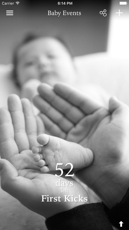 Baby Events - Count the days to your pregnancy's milestones