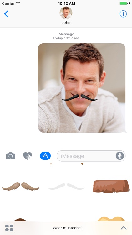 Wear a mustache - stickers for iMessage screenshot-3