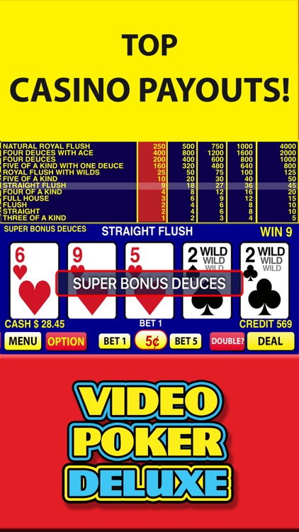 Video Poker Deluxe Casino screenshot-3