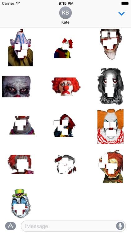 Killer Clown Stickers