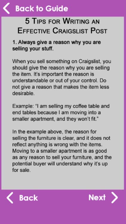 Best Sell Guide for Craigslist screenshot-4